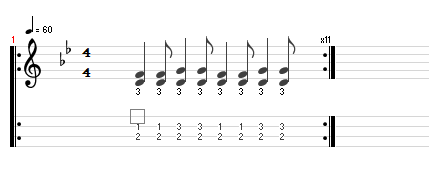 image, notation and tab for lesson
